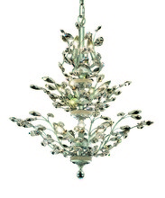 Elegant 2011D27C/RC - 2011 Orchid Collection Hanging Fixture D27in H27in Lt:13 Chrome Finish (Royal Cut Crystals)