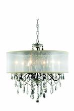Elegant 2016D24DB+SH/RC - 2016 St. Francis Collection Hanging Fixture Silver Shade H21in D24in Lt:6 Dark Bronze Finish (Royal