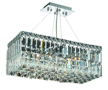 Elegant 2034D20C/RC - 2034 Maxime Collection Hanging Fixture L20in W10in  H7.5in Lt:4 Chrome Finish (Royal Cut Crystals)