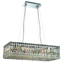 Elegant 2034D28C/RC - 2034 Maxime Collection Hanging Fixture L28in W14in  H7.5in Lt:16 Chrome Finish (Royal Cut Crystals)