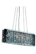 Elegant 2053D38C/RC - 2053 Soho Collection Hanging Fixture  L38in D9.5in H11in Lt:6 Chrome Finish  (Royal Cut Crystals)