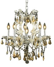 Elegant 2801D20C-GT/RC - 2801 Maria Theresa Collection Chandelier D:20in H:25in Lt:6 Chrome Finish (Royal Cut Crystals)