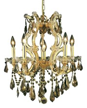 Elegant 2801D20G-GT/RC - 2801 Maria Theresa Collection Chandelier D:20in H:25in Lt:6 Gold Finish (Royal Cut Crystals)