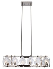 Elegant 4001D35PN - 4001 Endicott Collection Chandelier L:35in W:10.5in H:7.5in Lt:8 Polished Nickel clear glass Finish