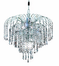 Elegant 6801D19C/EC - 6801 Falls Collection Pendant D:19in H:16in Lt:6 Chrome Finish (Elegant Cut Crystals)