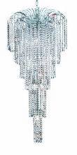 Elegant 6801G21C/RC - 6801 Falls Collection Large Hanging Fixture D21in H50in Lt:9 Chrome Finish (Royal Cut Crystals)