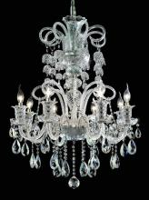 Elegant 7832D29C/RC - 7832 Elizabeth Collection Hanging Fixture D29in H35in Lt:8 Chrome Finish  (Royal Cut Crystal)