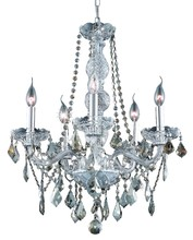Elegant 7855D21C-GT/RC - 7855 Verona Collection Chandelier D:21in H:26in Lt:5 Chrome Finish (Royal Cut Crystals)