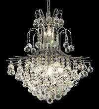 Elegant 8002D22C/RC - 8002 Toureg Collection Hanging Fixture D22in H26in Lt:11 Chrome Finish (Royal Cut Crystals)