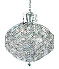 Elegant 8052D26C/RC - 8052 Spiral Collection Hanging Fixture D26in H25in Lt:12 Chrome Finish (Royal Cut Crystal)