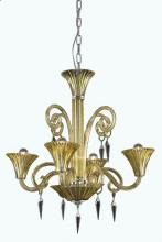 Elegant 8804D28YW/SS - 8804 Symphony Collection Hanging Fixture D28in H30in Lt:4 Yellow Finish (Swarovski� Elements Crystal