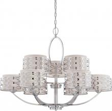 Nuvo 60/4630 - Harlow - 9 Light Chandelier w/ Slate Gray Fabric Shades